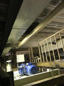 モーターオーバーホール用メンテナンスレール設置工事