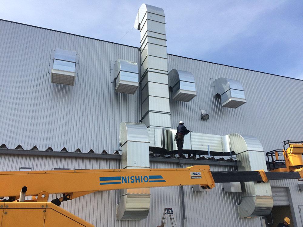 塗装排気ダクト設置工事