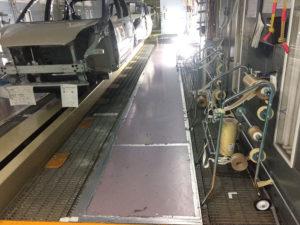 塗装ブース床面改良工事