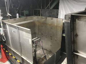純水装置タンク改造工事